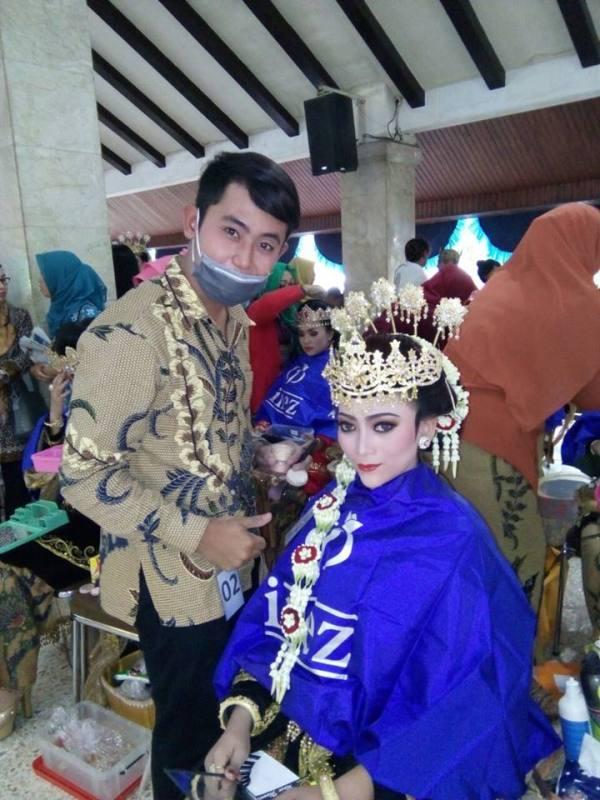 Vanessa bersama perias Riecho Alenta Geo Farrel